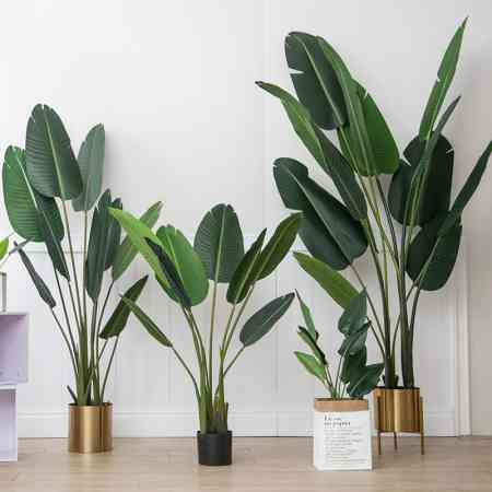 Bird of paradise Nordic simulation plant traveller banana fake green plant potted large living room furnishings interior decoration turtle leaves