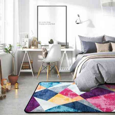 Simple modern Nordic geometric carpet living room coffee table blanket bedroom full home INS wind bed edge blanket rectangle
