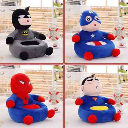 New children's sofa spiderman plush toy crayons small new doll fabric sofa US captain tatami
