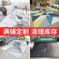 Nordic summer living room carpet bedroom luxury clothing shop for office light a large area of ​​summer mat simple