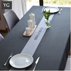 Nordic oblong table dining table cloth cotton linen waterproof anti-scald oil-proof disposable wash thickening increase tablecloth modern simplicity