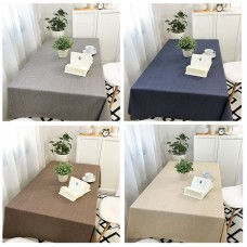 Waterproof and oilproof disposable cotton and linen anti-scalding table cloth coffee table solid color linen placemat net red desk tablecloth tablecloth