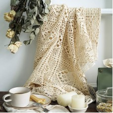 Hand-crochet tablecloths hollow Leisigaibu curtains American country doilies Sen Department dessert table cloth