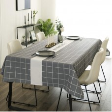 Modern simple high-grade gray grid Nordic ins wind table cloth waterproof anti-scalding coffee table dining table table cloth TV cabinet