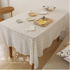 Mediterranean French rural Nordic garden nostalgic restaurant coffee shop cotton lace tablecloth tablecloth cover table flag