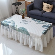 Nordic style tea table cover full package waterproof ins sitting room tea table tablecloth set skirt rectangle dust cover lace